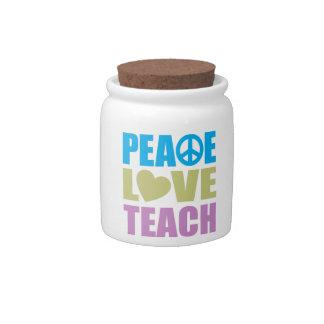 Peace Love Teach Candy Dish