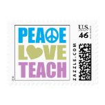 Peace Love Teach Postage Stamp