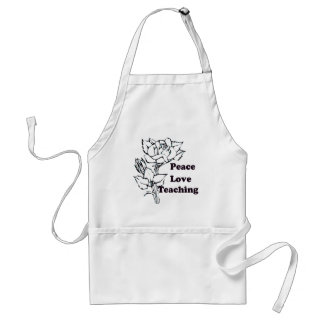 Peace, Love, Teaching Adult Apron