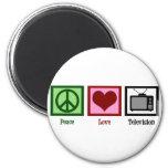Peace Love Television Fridge Magnets