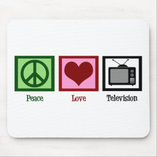 Peace Love Television Mouse Pad