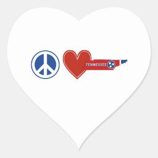 Peace Love Tennessee Heart Sticker