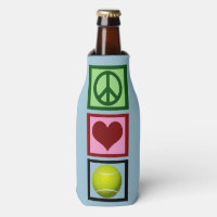Peace Love Tennis Bottle Cooler