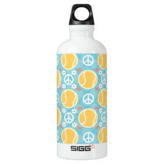 Peace Love Tennis BPA Free Water Bottle