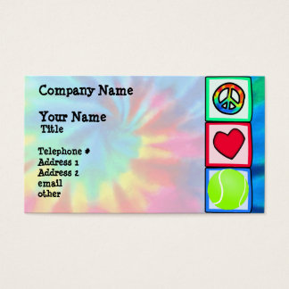 Peace, Love, Tennis Business Card