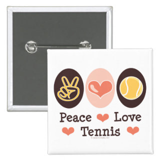 Peace Love Tennis Button