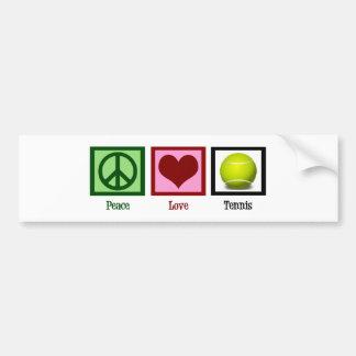 Peace Love Tennis Car Bumper Sticker