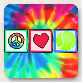 Peace, Love, Tennis Drink Coaster