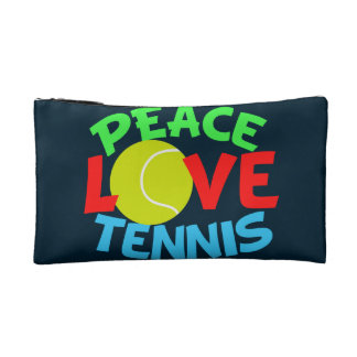Peace Love Tennis Cosmetic Bag