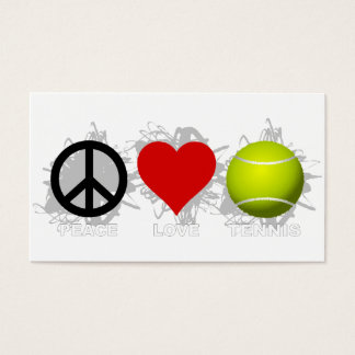 Peace Love Tennis Emblem Business Card