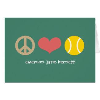 Peace, Love, Tennis Green Card