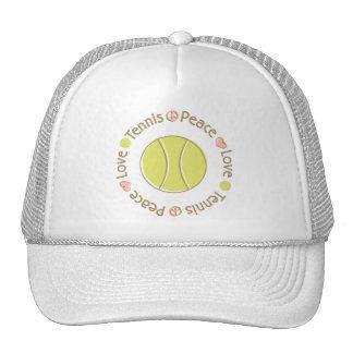 Peace Love Tennis Trucker Hat