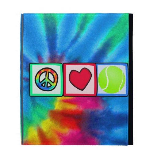 Peace, Love, Tennis iPad Folio Covers