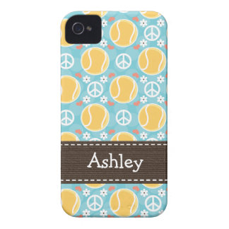 Peace Love Tennis iPhone 4 4s Case-Mate Cover