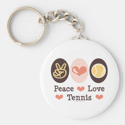 Peace Love Tennis Key Chain