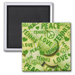 Peace Love Tennis Magnet