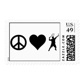 Peace Love Tennis (Male) Postage