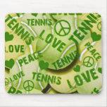 Peace Love Tennis Mouse Pad