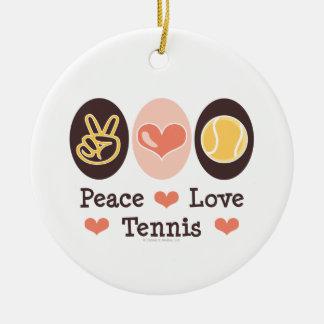 Peace Love Tennis Ornament