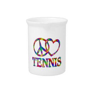 Peace Love Tennis Pitcher