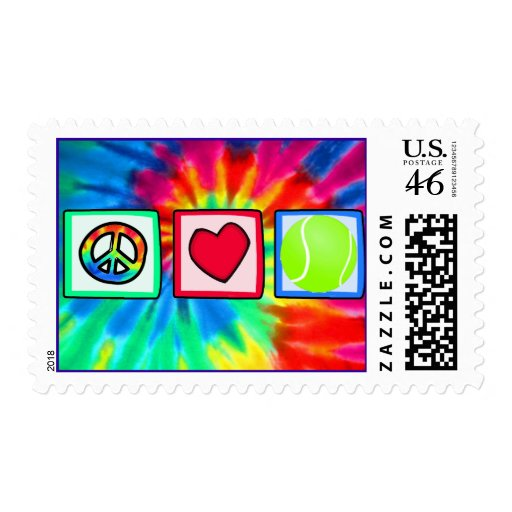 Peace, Love, Tennis Stamps