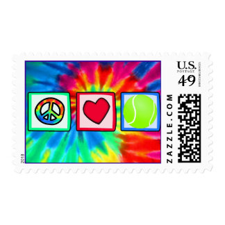 Peace, Love, Tennis Postage Stamp
