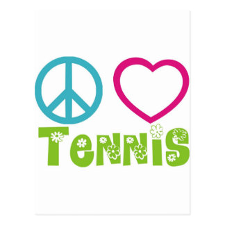 Peace Love Tennis Postcard