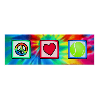 Peace, Love, Tennis Poster