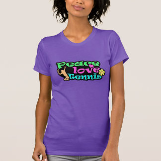 Peace, Love, Tennis; Retro T-Shirt