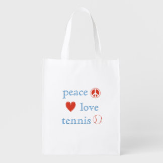 Peace Love Tennis Reusable Grocery Bag