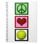 Peace Love Tennis Spiral Notebooks