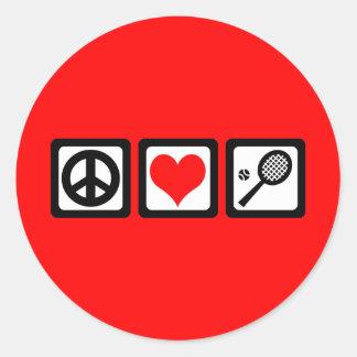 Peace love tennis sticker