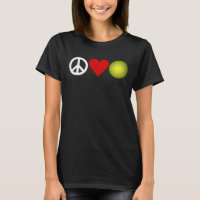 Peace Love Tennis t-shirt customizable