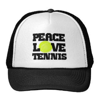 Peace, Love, Tennis Trucker Hat