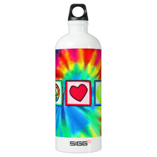 Peace, Love, Tennis Water Bottle