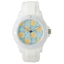 Peace Love Tennis Wristwatch