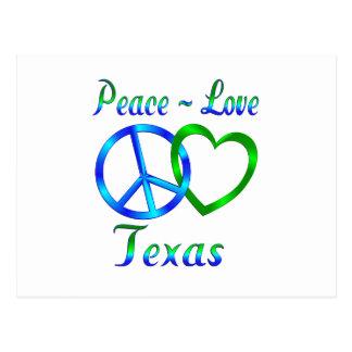 Peace Love Texas Postcard