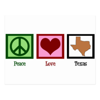 Peace Love Texas Postcard