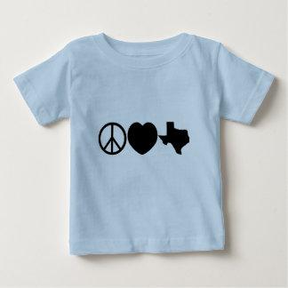 Peace Love Texas symbols Baby T-Shirt