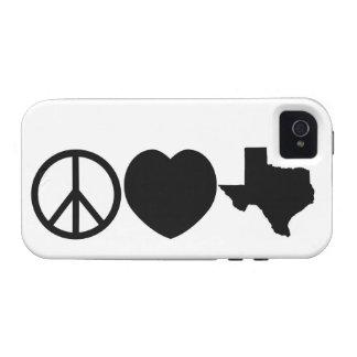 Peace Love Texas symbols Vibe iPhone 4 Covers