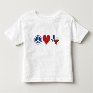 Peace Love Texas Toddler T-shirt