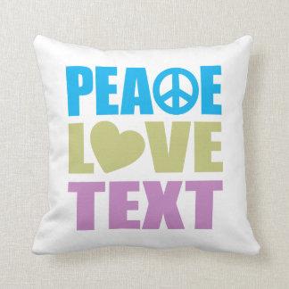 Peace Love Text Throw Pillow