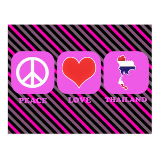 Peace Love Thailand Postcard