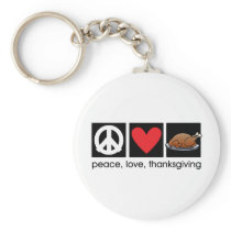 Peace, Love, Thanksgiving keychain