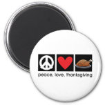 Peace, Love, Thanksgiving Magnet Refrigerator Magnets