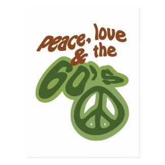 Peace, Love & The 60's Postcard