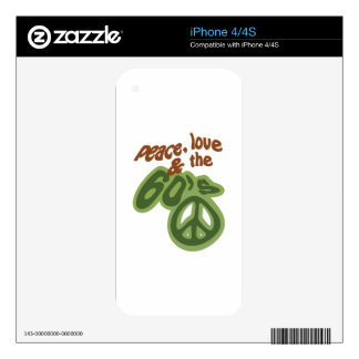 Peace, Love & The 60's Skins For iPhone 4