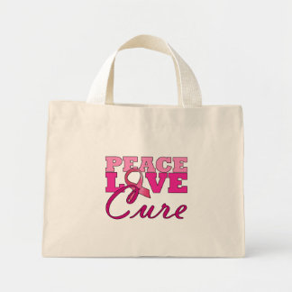 Peace, Love & The Cure Tote Bags