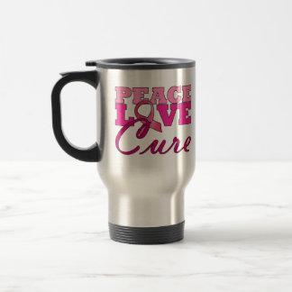 Peace, Love & The Cure Travel Mug