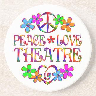 Peace Love Theatre Coaster